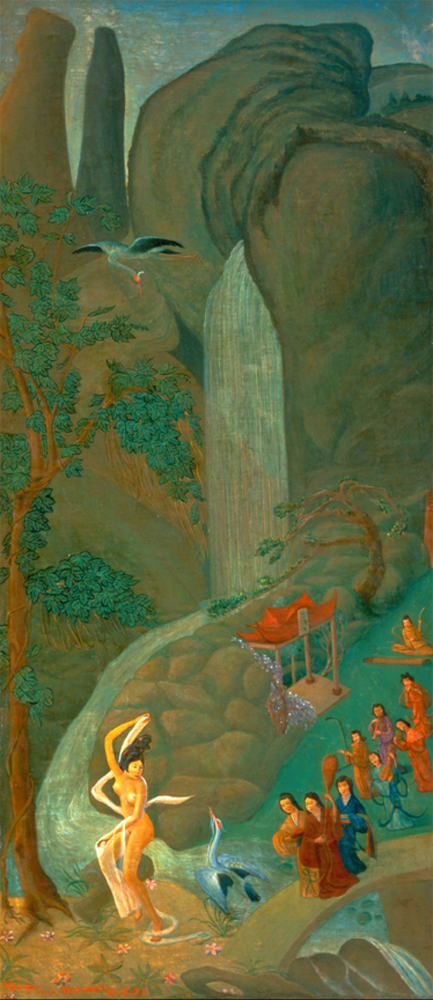 Yang Kwei Fei At Her Bath