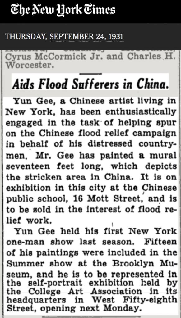 NY Times 1931