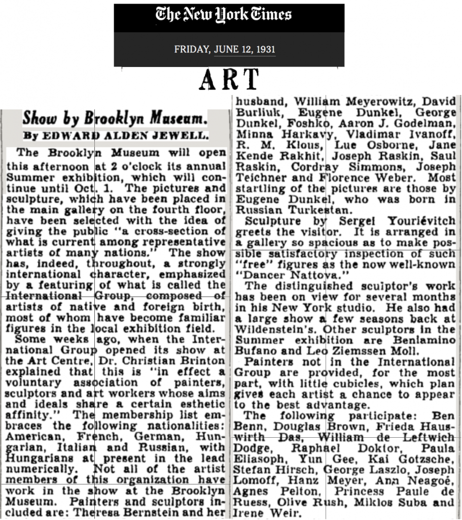 NYTimes 1931